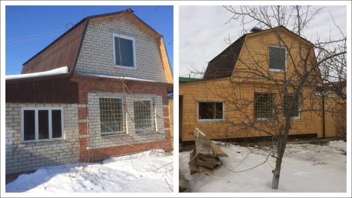 Дом ДО и ПОСЛЕ отделки фасада